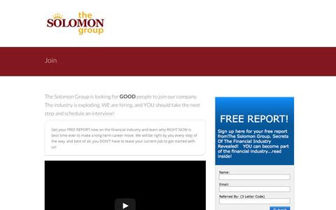 Screenshot of Signup Page solomonwealth.com - Solomon Group Join - Solomon Group - captured Oct. 6, 2014