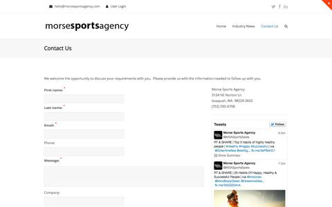 Screenshot of Contact Page gridserver.com - Contact Us | Morse Sports Agency - captured Oct. 26, 2014