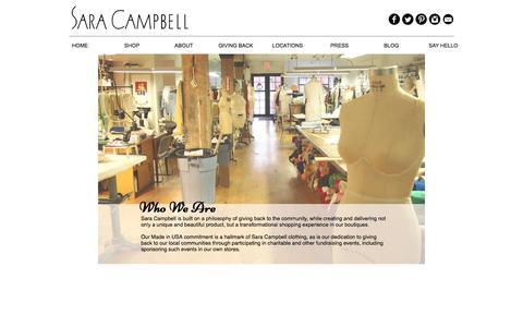 Screenshot of About Page saracampbellwebsite.com - Sara Campbell | ABOUT - captured Dec. 6, 2016