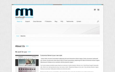 Screenshot of About Page newburghnetworks.com - About Us | Newburgh Networks - captured Oct. 26, 2014