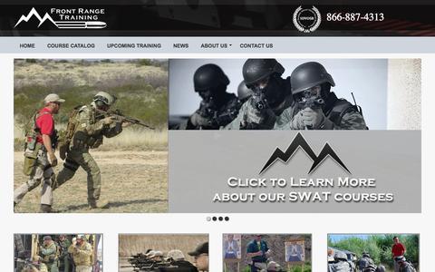 Screenshot of Home Page frontrangetraining.com - Denver, CO & National Law Enforcement & Firearms Training | Front Range Training - captured Sept. 11, 2015