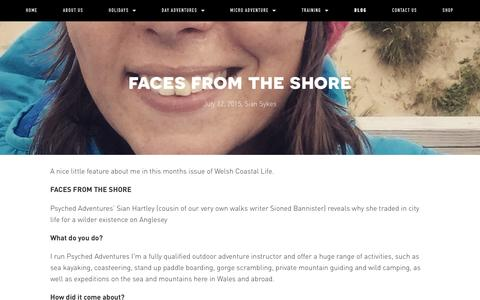 Screenshot of Press Page psyched-adventures.com - Faces from the shore — Psyched Adventures - captured May 27, 2016