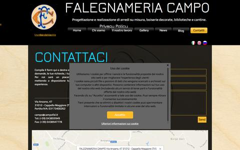 Screenshot of Contact Page campofal.it - Contattaci - captured Nov. 13, 2016