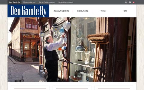 Screenshot of Home Page dengamleby.dk - Den Gamle By - Den Gamle By - captured June 4, 2017