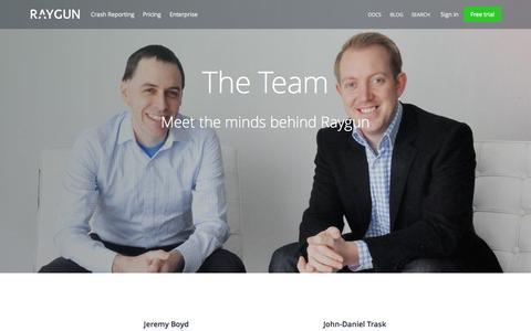 Screenshot of Team Page raygun.io - Meet the Team | Raygun - captured Sept. 27, 2015