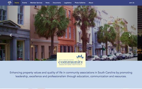 Screenshot of Home Page cai-sc.net - South Carolina Community Associations: Improving the Quality of life. - captured Oct. 6, 2014