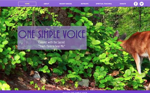 Screenshot of Home Page onesimplevoice.org - One Simple Voice - Spiritual Retreats - captured Dec. 19, 2016