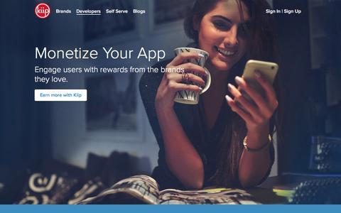 Screenshot of Developers Page kiip.me - Developers | Kiip - captured Dec. 4, 2015