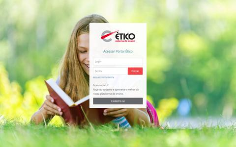Screenshot of Login Page sejaetico.com.br - Portal Ético - Sistema de Ensino - Fazer Login no Portal - captured March 7, 2016