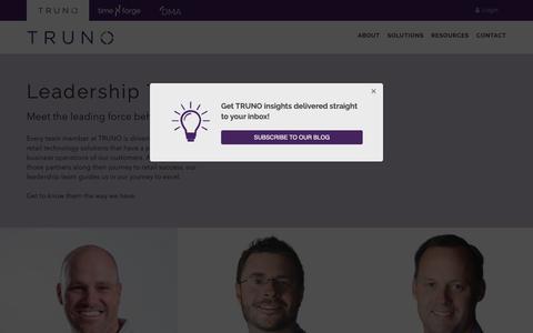 Screenshot of Team Page truno.com - Leadership Team - TRUNO - captured Oct. 18, 2018