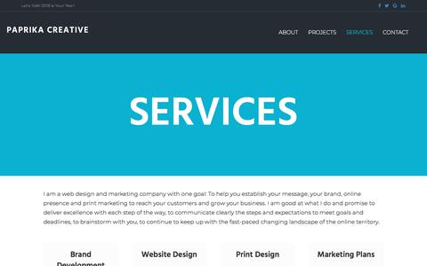 Screenshot of Services Page paprikacreative.com - Services - Paprika Creative - captured July 15, 2018