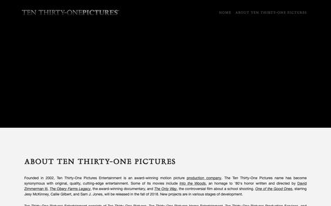 Screenshot of About Page tenthirtyonepictures.com - About Ten Thirty-One Pictures | Ten Thirty-One Pictures Entertainment - captured Oct. 20, 2018