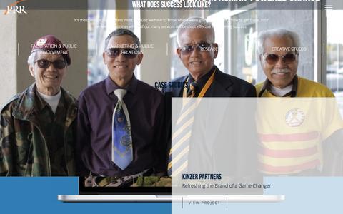 Screenshot of Home Page prrbiz.com - PRR | Communications, Marketing, Research, & Digital - captured Oct. 11, 2016