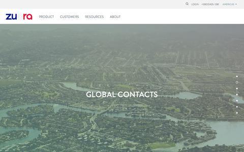 Screenshot of Contact Page zuora.com - Contact - Zuora - captured Nov. 17, 2015