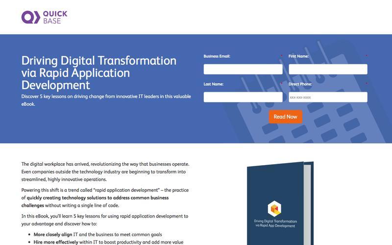 Driving Digital Transformation via Rapid Application Development eBook   QuickBase