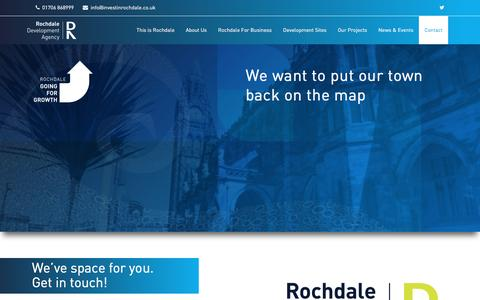 Screenshot of Contact Page investinrochdale.co.uk - Rochdale Development Agency - Contact - captured Dec. 3, 2016