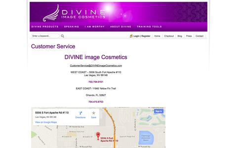 Screenshot of Support Page divineimagecosmetics.com - Changing Makeup & Changing the World | Divine Image Cosmetics - captured Sept. 30, 2014