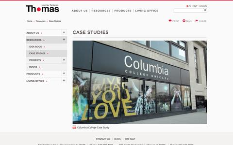 Screenshot of Case Studies Page thomasinterior.com - Case Studies - captured Jan. 9, 2016