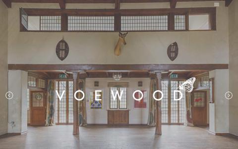 Screenshot of Home Page voewood.com - Voewood   Award Winning Wedding Venue   Norfolk - captured March 12, 2016