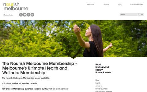 Screenshot of Signup Page nourishmelbourne.com.au - Sign Up | Nourish Melbourne - captured Sept. 30, 2014