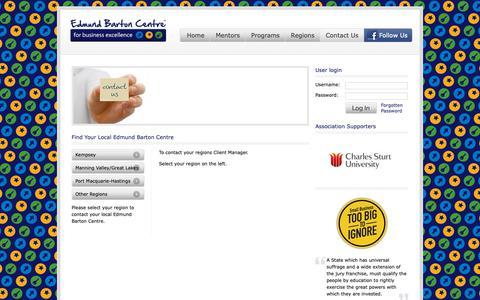 Screenshot of Contact Page edmundbartoncentre.com.au - Find Your Local Edmund Barton Centre | Edmund Barton Centre - captured Sept. 27, 2018