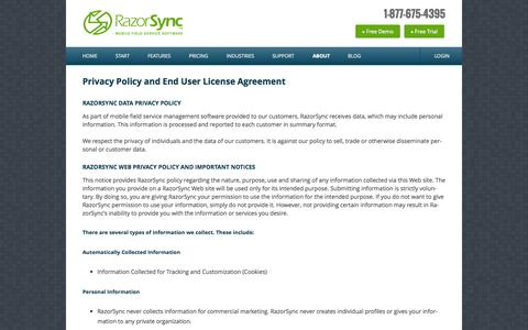 RazorSync.com | Privacy and Terms of Use | Legal Terms