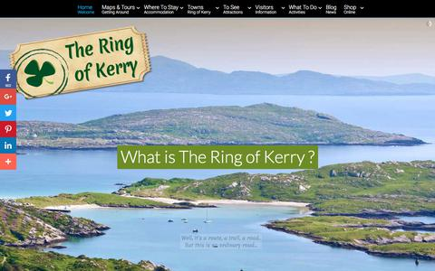 Screenshot of Home Page theringofkerry.com - Ring Of Kerry - Holiday and Family Vacation in Kerry Ireland. Fall in love with the Ring of Kerry - captured Sept. 21, 2018