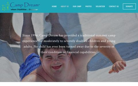 Screenshot of About Page campdreamga.org - What We Do — Camp Dream - captured Jan. 25, 2016