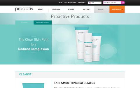 Screenshot of Products Page proactiv.com - Acne Treatment Products | Proactiv+ 3-Step System - captured Nov. 11, 2016