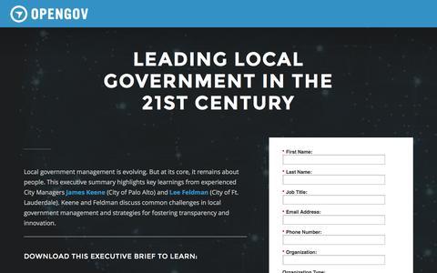 Screenshot of Landing Page opengov.com captured Dec. 10, 2016