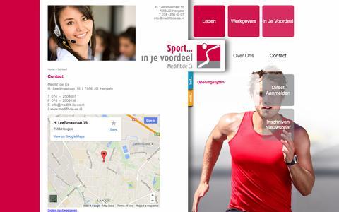 Screenshot of Contact Page medifit-de-es.nl - Contact - Medifit de Es - captured Oct. 27, 2014
