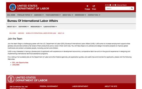Screenshot of Signup Page dol.gov - Join the Team   United States Department of Labor - captured Aug. 21, 2016