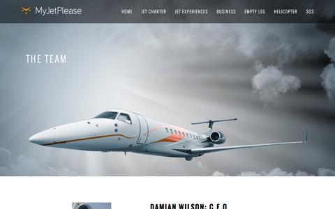 Screenshot of Team Page myjetplease.com captured Feb. 15, 2016