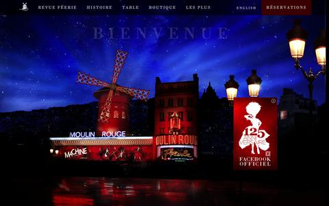 Screenshot of Home Page moulinrouge.fr - Moulin Rouge (Site Officiel)  -  Réservation au 01 53 09 82 82 - captured Sept. 25, 2014