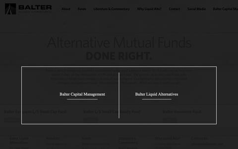 Screenshot of Home Page balterliquidalts.com - Balter Liquid Alternatives - captured Oct. 5, 2018