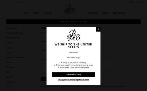 Screenshot of Contact Page beeinspiredclothing.com - Contact Us – Bee Inspired Clothing - captured Oct. 12, 2019