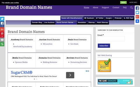 Screenshot of Home Page brand-domain-names.com - Brand Domain Names|Brand Domains for sales|Brand-Domain-Names.com - captured June 28, 2016