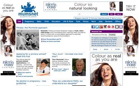 Screenshot of Home Page mumsnet.com - Mumsnet | Parenting advice, support and chat | Mumsnet - captured Jan. 9, 2016