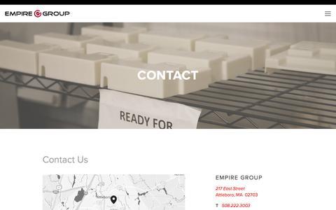 Screenshot of Contact Page empiregroupusa.com - Contact — Empire Group - captured May 17, 2017