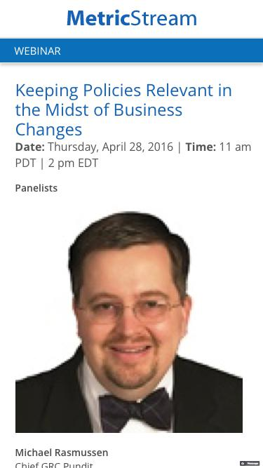 WEBINAR: Keeping Policies Relevant in the Midst of Business Changes
