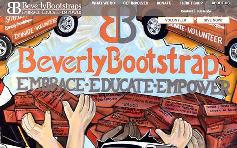 Screenshot of About Page Contact Page beverlybootstraps.org - About Beverly Bootstraps - A Community Organization - captured Dec. 9, 2018