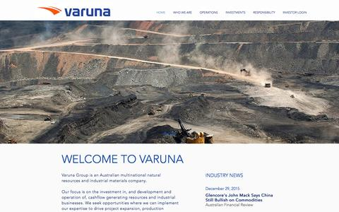 Screenshot of Home Page varunagroup.com.au - Varuna Group - captured March 17, 2016