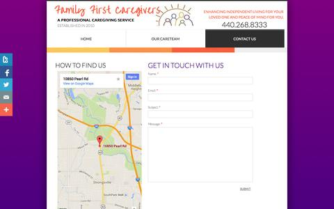 Screenshot of Privacy Page Contact Page familyfirstcares.com - Contact Us - captured Oct. 23, 2014
