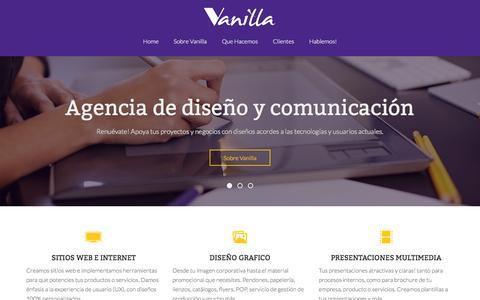 Screenshot of Home Page vanilla.cl - Vanilla Diseño - Agencia de diseño grafico en Chile - captured Feb. 26, 2016