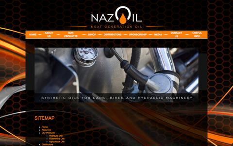 Screenshot of Site Map Page nazoil.com - Nazoil | Next Generation Oil - captured Oct. 27, 2014