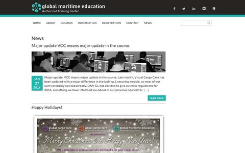 Screenshot of Press Page maritime-education.nl - News - Global Maritime Education - captured Jan. 29, 2016