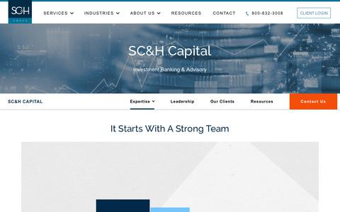 Investment Banking Strategy & Valuation Advisory Services - SC&H Capital | SC&H Group