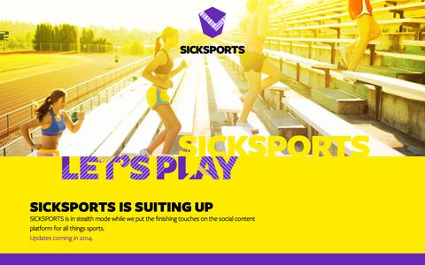 Screenshot of Home Page sicksports.com - SICKSPORTS: the social content platform for teens, sports and everything that matters. - captured Oct. 23, 2018