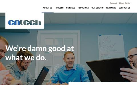 Screenshot of About Page entechus.com - Learn about Entech | A Managed Service Provider in Florida - captured July 19, 2018