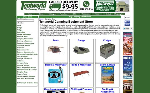 Screenshot of Products Page tentworld.com.au - Buy Camping Gear Online - Tentworld - captured Oct. 26, 2014